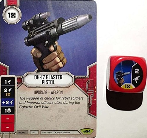 Star Wars Destiny  DH-17 Blaster Pistol Card #54 & Dice