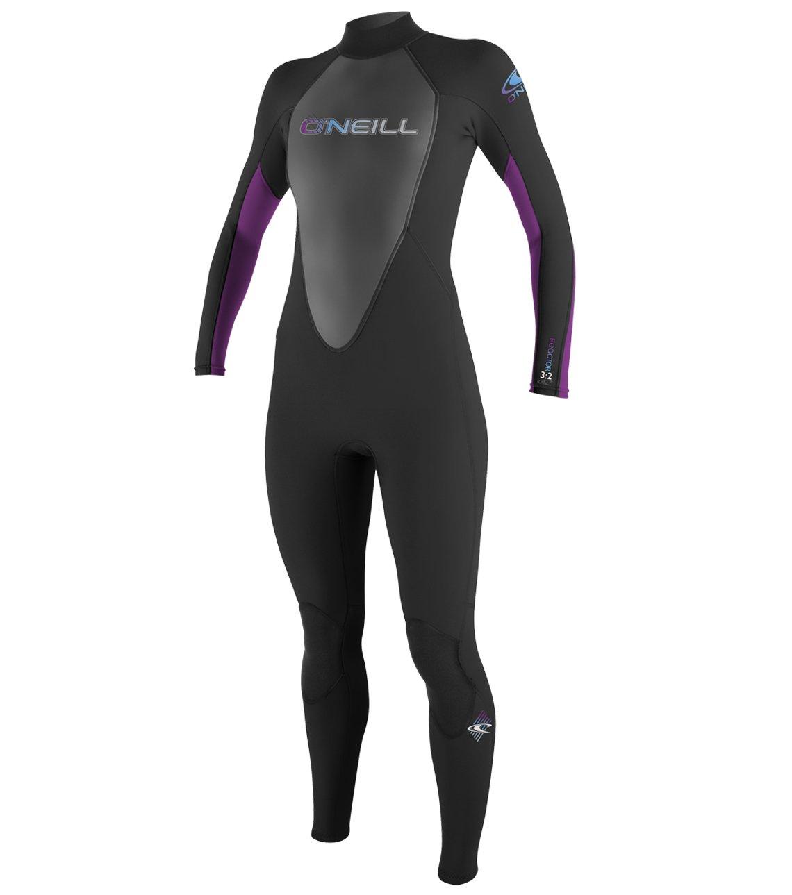 O'Neill Wetsuits Women's Reactor 3/2mm Back Zip Full Wetsuit