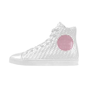 Shoes No.1 Sneakers Fitness Woven Women's Shoes PU Leather Sweet Allover Hearts A For Outdoor