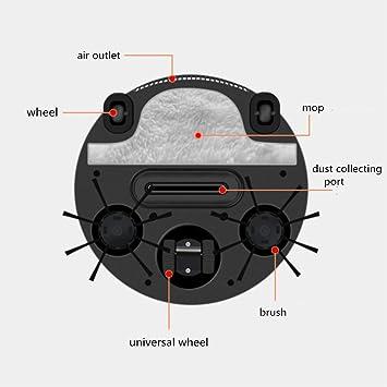 MRDEER Robot De Aspiracion Pro AutomáTico Robot Aspirador 3 En 1 (Barrer, Aspirar, Limpiar) Mojado Y Seco Limpia Todos Los Pisos Duros Y Alfombras -150 ...