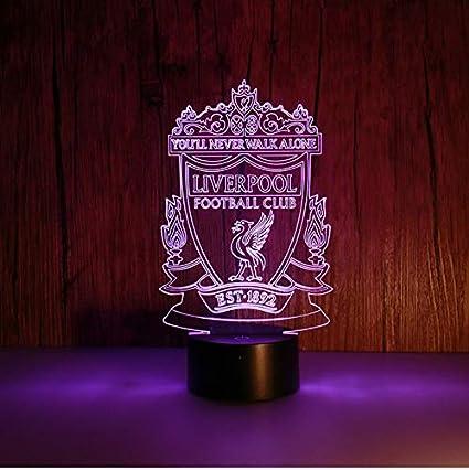 Lixiaoyuzz 3D Lámparas De Mesa 3D Night Lights Liverpool ...