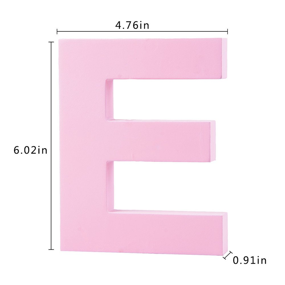Amazon.com: Decorative Wood Letters E Hanging Wall 26 Letters Wooden ...