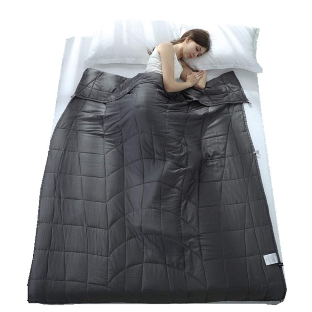 加重毛布、不眠症のキルトの圧力は睡眠の減圧に役立ちますガラスビーズ環境に優しい換気緩和圧力毛布,#1,41
