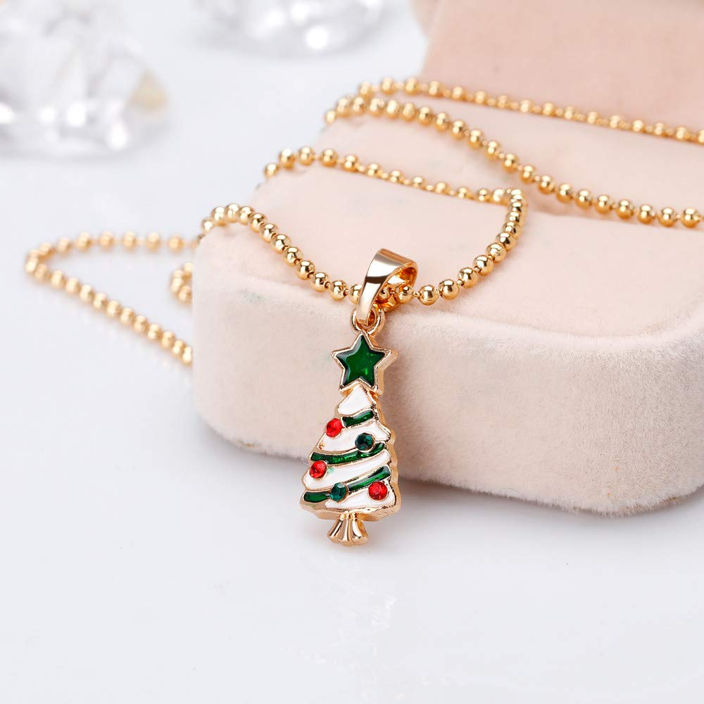 Christmas Eve Winter Holiday Fashion Jewelry for Womens Girls Christmas Pendant Necklace Xmas Christmas Hat Boots Jingle Bells Luxury Cute Chain Necklace