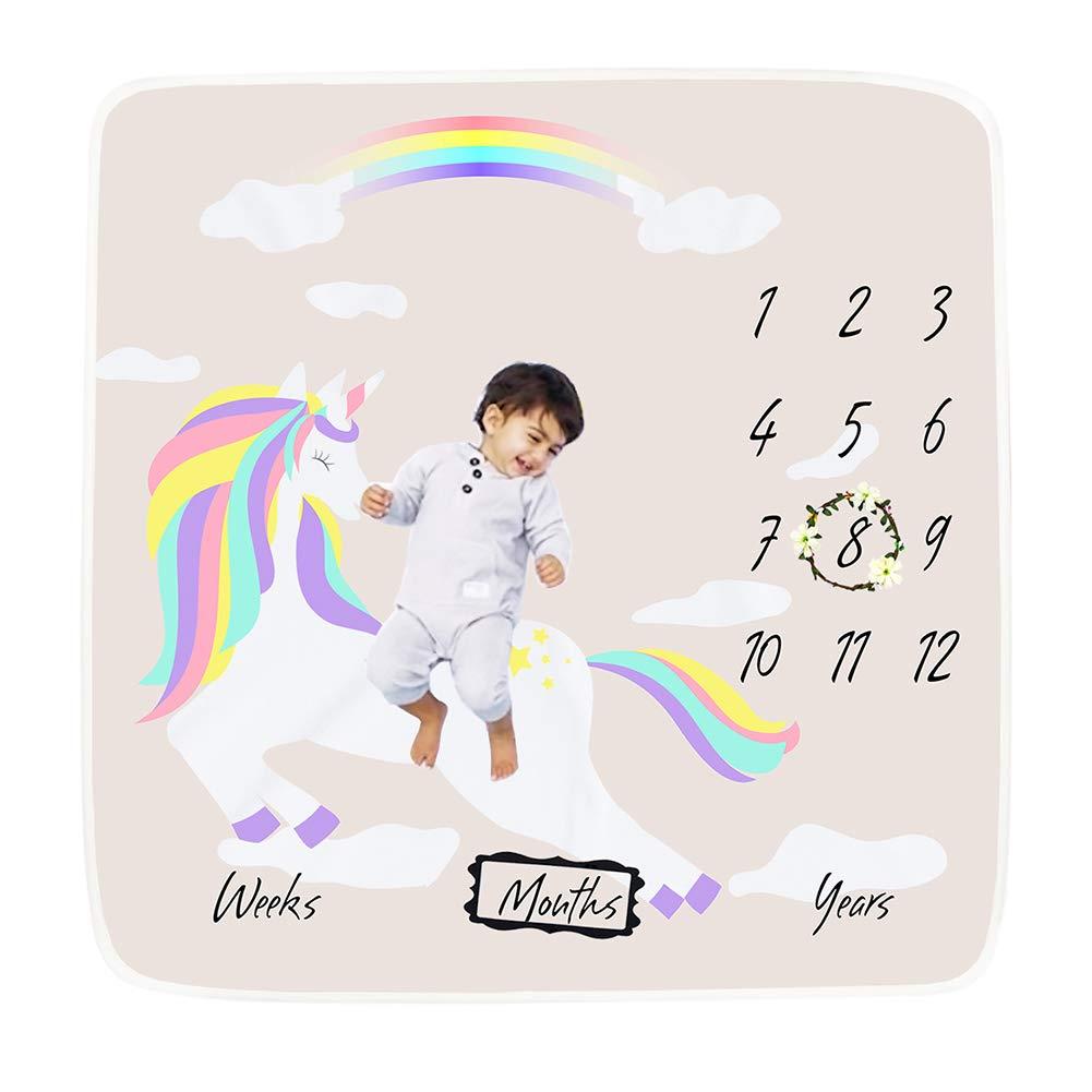 Accessoires de fond de photo super doux Emmaillotage pour nouveau-n/é 100 x 100 cm Couverture mensuelle pour b/éb/é Cadeau id/éal pour une f/ête pr/énatale