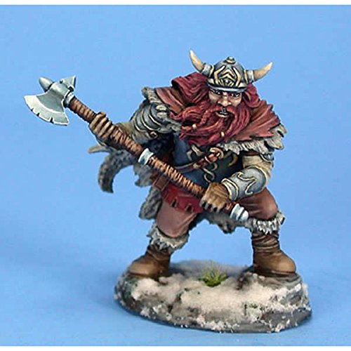 Male Dwarvin Fighter With Axe Visions In Fantasy Dark Sword (Dwarf War Sword)