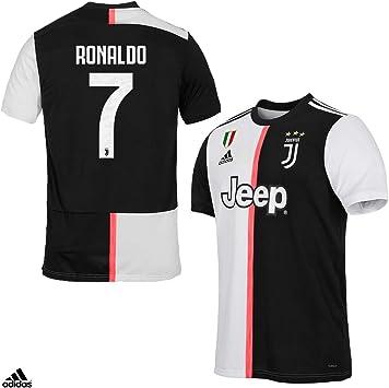 Juventus Camiseta Ronaldo CR7 Gara Home oficial temporada 2019/2020-100% producto oficial - 100% original - niño - parche escudo siempre incluido - Elige la talla, Taglia 128 cm 7/8 Anni: Amazon.es: Deportes y aire libre