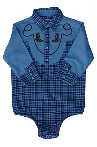 Cowboy Outfit For Baby - Baby Toddler Western Blue Plaid Cowboy