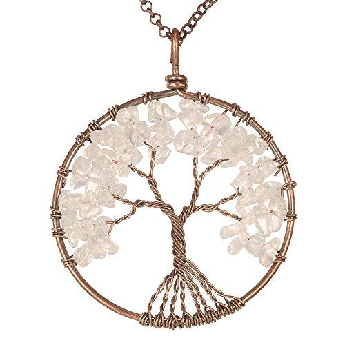 Gemstone Necklace Pendant BRCbeads Crystal