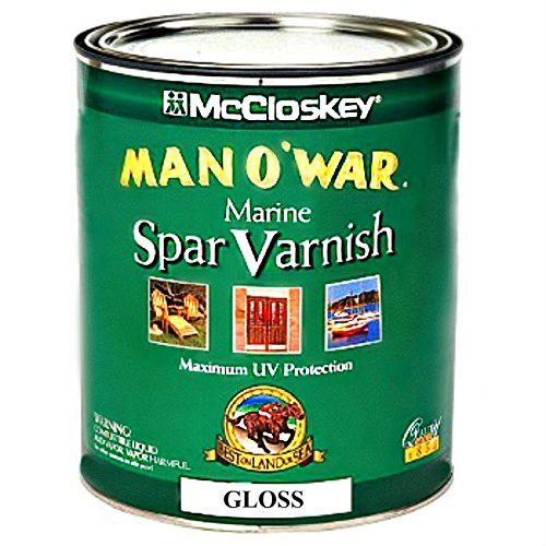 McCloskey/Valspar 80-0007509-07 Man O'War Spar Marine Varnish - Gloss ~ 1 (War Wood)