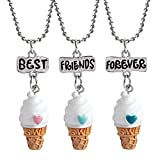3 Friendship Necklace Ice Cream Necklace Set for