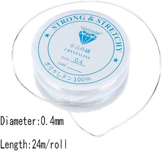 0.4//0.5//0.6//0.7//0.8//1.0mm Clair élastique Stretch Perles Chaîne cordon fil bijoux