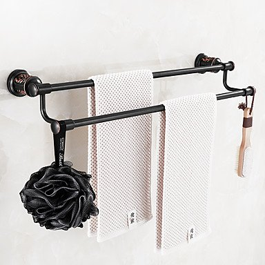 Modern Bathroom Towel Bar Oil Rubbed Bronze Wall Mounted Brass by QCTRSY Bathroom Faucet