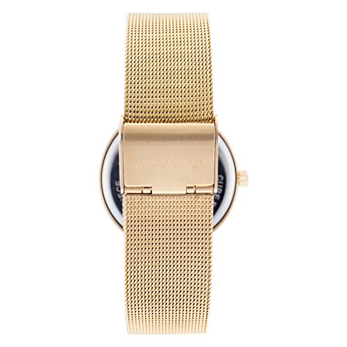 ef767cbcd93 WRISTOLOGY Olivia Womens Gold Crystal Wrist Watch Metal Mesh - Import It All