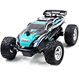 Remote Off Road Vehicle, RC Cars 2.4Ghz 4WD High Speed 1:24 Scale Child Cross Country Remote Control Racing Buggy with Shock Absorber Design - All Terrain Dune Buggy(Green)