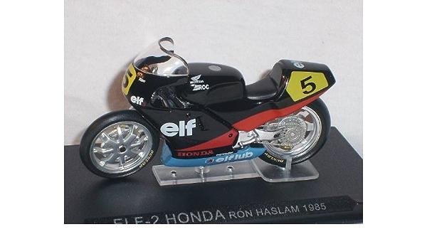 elf-2 Honda Ron Haslam 1985 1/24 fundido Altaya: Amazon.es ...