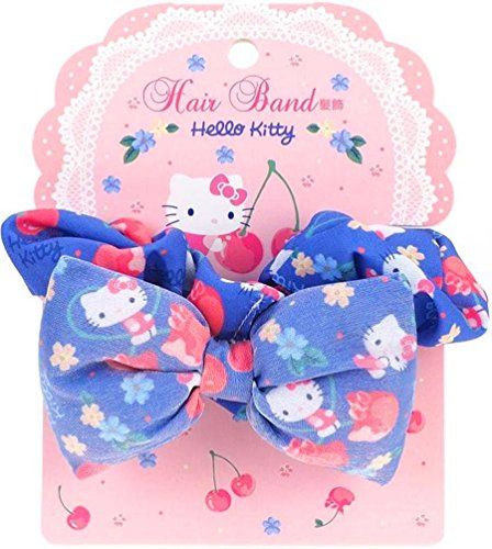Hello Kitty Hair Band Ponytail Holder Silky Chiffon Fabric Scrunchie