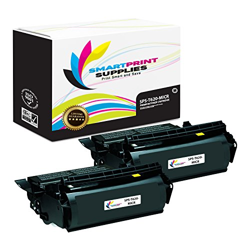 Smart Print Supplies Compatible 12A6865 MICR Black High Yield Toner Cartridge Replacement for Lexmark Optra T620 T622 Printers (30,000 Pages) - 2 (T620 T622 Print Cartridge)