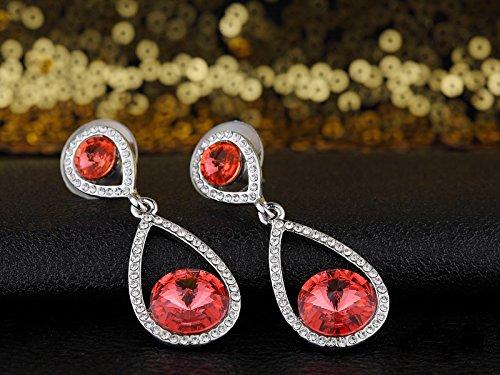Swarovski Elements Rouge ''Nobiltà'' Boucles d'Oreilles
