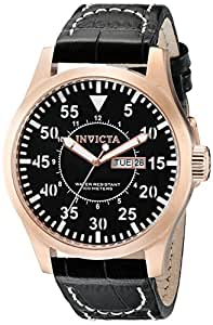 Invicta Men's 11199 Specialty Black Dial Black Leather Watch