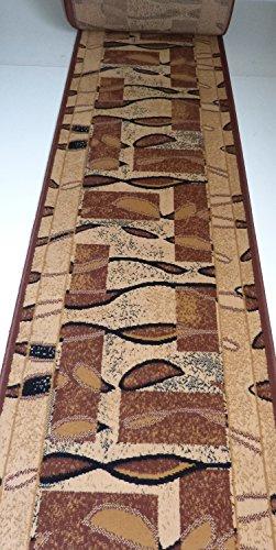 Läufer Teppich auf Maß Beige 1004 Flur lfm. 13,90 Euro Breite 80 x 460 cm