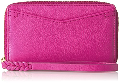 Fossil Women's Caroline RFID Phone Wallet, Hot Pink, One Siz
