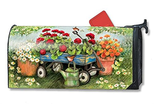 Geraniums by the Dozen LARGE Magnetic Mailbox Cover