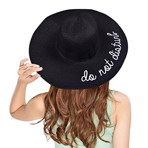asimoon-womens-unique-embroidered-straw-hat-adjustable-beach-wide-brim-sun-hat-black