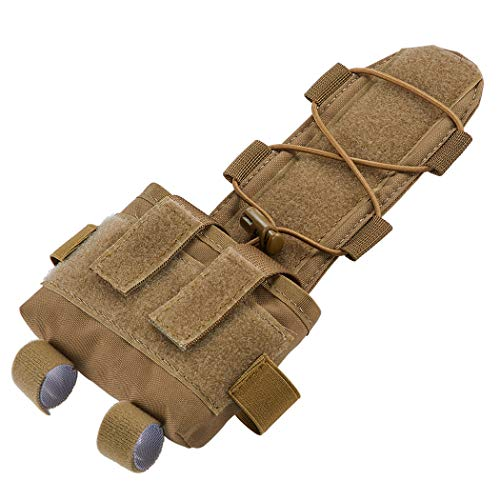 IDOGEAR Tactical Pouch MK2 Helmet Counterweight Battery Pouch NVG Battery Carrier Universal Accessory Bag for Airsoft Hunting Outdoor Sports (Coyote Brown)