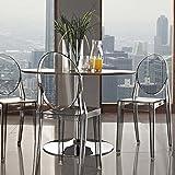 Modway EEI-906-SMK Casper Dining Chairs Set of 2, Smoke