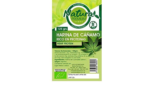 Natura Premium Cañamo - Harina Proteina Bio 125 g: Amazon.es ...
