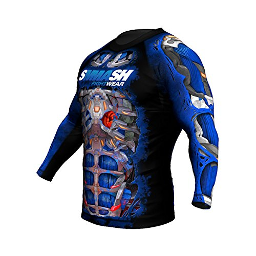 SMMASH Rashguard FIGHT MACHINE ELECTRIC Langarm MMA BJJ UFC Kampfsport K1