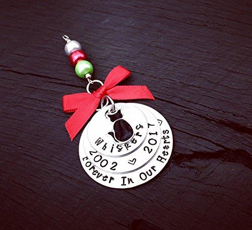 (Black Cat Memorial Christmas Ornament   Pet Memorial Ornament   Cat Keepsake Ornament   Pet Remembrance Ornament   Sympathy Gift)