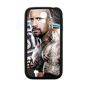 Happy WWE World Wrestling The Rock Black Phone Samsung Galaxy S5 I9600/G9006/G9008