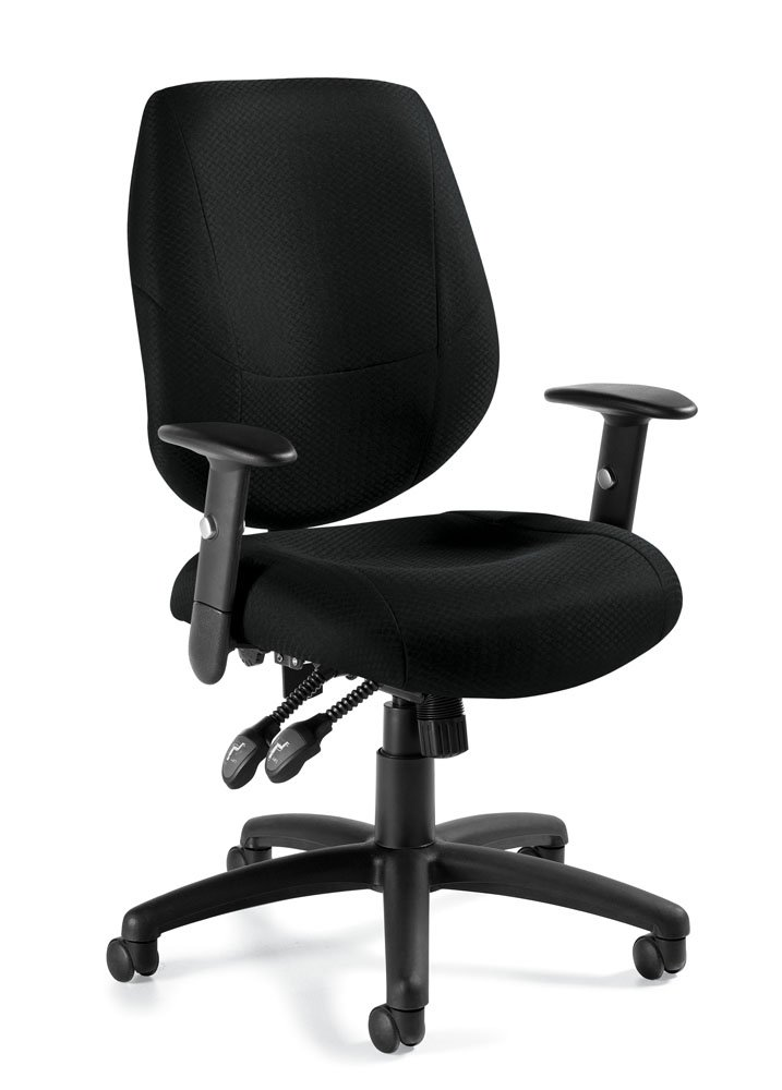 Offices To Go Adjustable Ergonomic Office Chair in Black