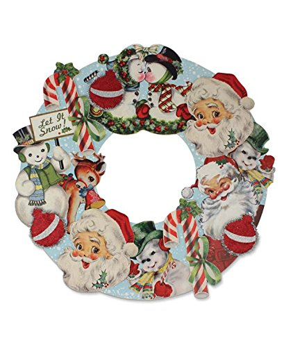 Bethany Lowe - Christmas - Retro Christmas Die Cut Wreath - RL2905