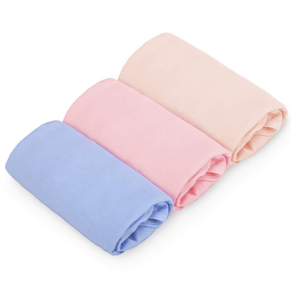 QUEENROSE Womens Adjustable Maternity Knickers Underwear, 100% Cotton Pregnancy Panties, 3 Pack