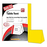 Digital Table Tents - 1,000 Pack (Bright Yellow)