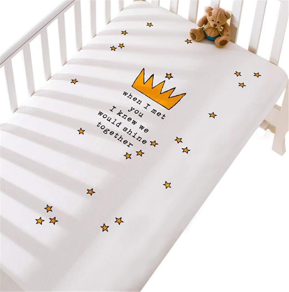 Baby Spannbettlaken Spannbetttuch Kinderbettlaken Baumwolle dekorative Muster Babybett 60x120cm//70x140cm