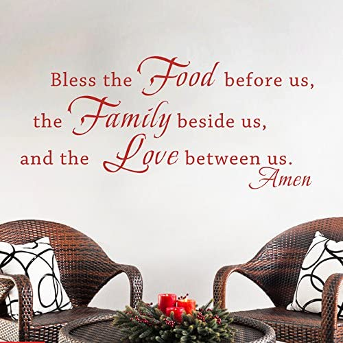 """BLESS THE FOOD BEFORE US  Vinyl Wall Art Decal Decor Lettering Words Quotes 36/"""""""