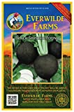 Everwilde Farms - 500 Black Spanish Round Radish Seeds - Gold Vault Jumbo Seed Packet