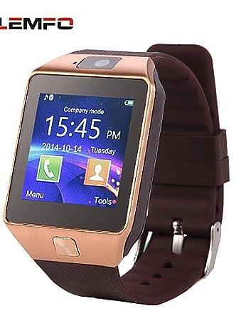 lemfo dz09 MTK mtk6260a 1,54 pulgadas bluetooth de la ayuda reloj inteligente tarjeta SIM dispositivos portátiles SmartWatch , black: Amazon.es: Electrónica