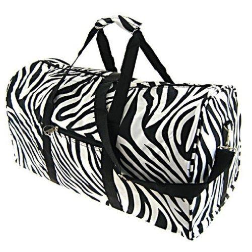 World Traveler Black Zebra Gym Duffle Bag 21-inch