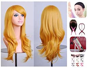 [ELEEJE] Colorful Full Wig SE Miling Long 70cm Cosplay Unisex Choose From (color) Halloween Comiket Rock Festival Event And Big Active ! Convenient Like Net Stand Attached ( Fernando Hierro - Gordes )