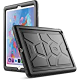 Poetic TurtleSkin New iPad 9.7 Inch 2017/2018 Cover Case with Heavy Duty Protection Silicone and Sound-Amplification Feature for Apple iPad 9.7 2017 / iPad 9.7 2018 Black