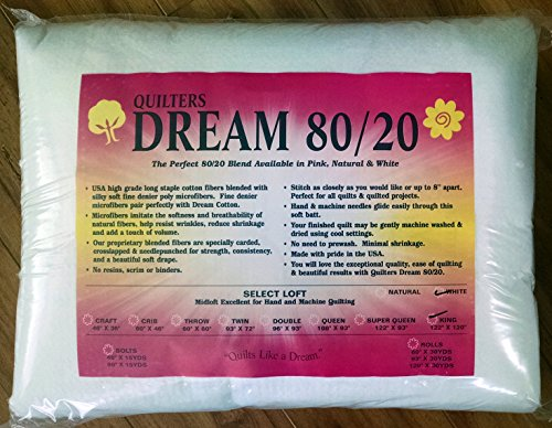 Quilter's Dream 80/20, White, Select Loft Batting - King Size 122''X120'' by Unknown