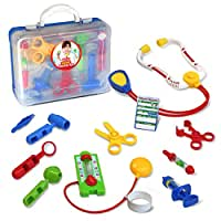 Kidzlane Deluxe Doctor Medical Kit - Pretend and Play Set for Kids