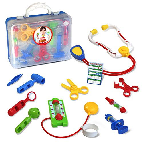 Kidzlane Deluxe Doctor Medical Kit - Pretend Play Set for Kids - Kids Dr Kit