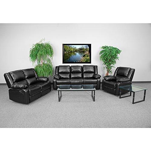 Price comparison product image Flash Furniture BT-70597-RLS-SET-GG Harmony Series black Leather Reclining Sofa Set
