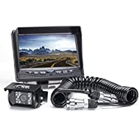 Rear View Safety Backup Camera System with Trailer Tow Quick Connect/Disconnect Kit RVS-770613-213 (Black)